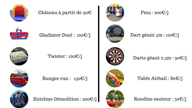 prix activites bw-events