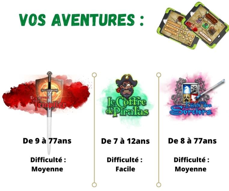 Vos aventures escape game_